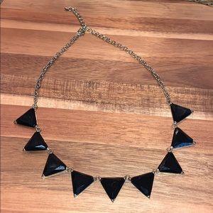 Francesca's black triangle necklace